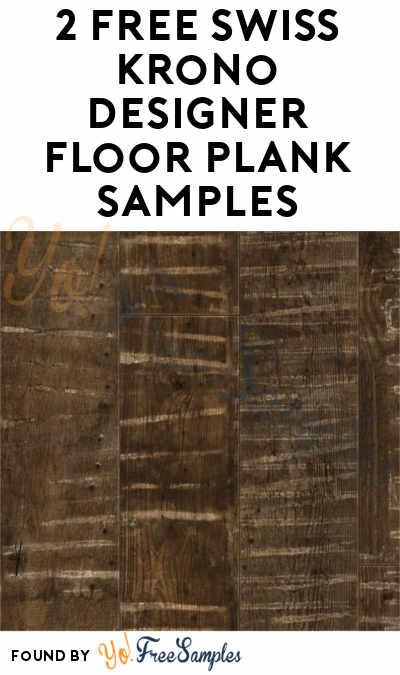 2 FREE Swiss Krono Designer Floor Plank Samples