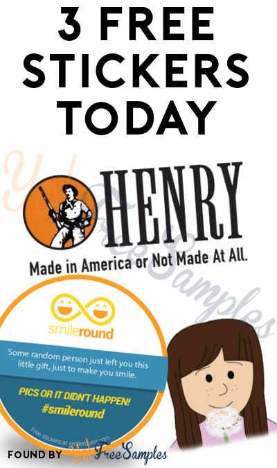 3 FREE Stickers Today: SmileRound Sticker, Dandelion Girl Sticker & Henry Made In America Bumper Sticker