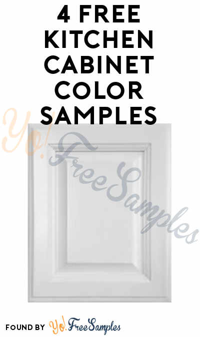 4 FREE Kitchen Cabinet Color Samples