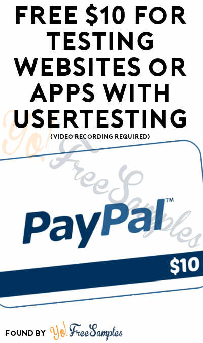 FREE $10 For Testing Websites or Apps With UserTesting (Video Recording Required)