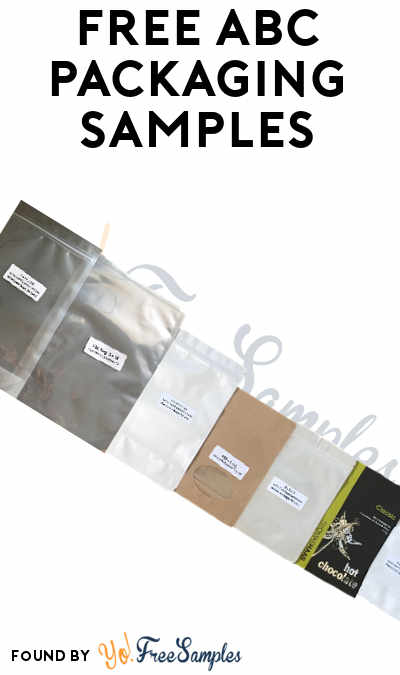 FREE ABC Packaging Stand Up Pouch Samples (Company Name Required)