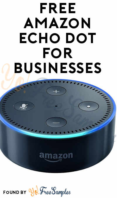 FREE Amazon Echo Dot For Businesses