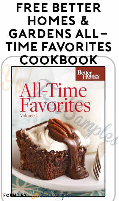 free better homes gardens all time favorites cookbook