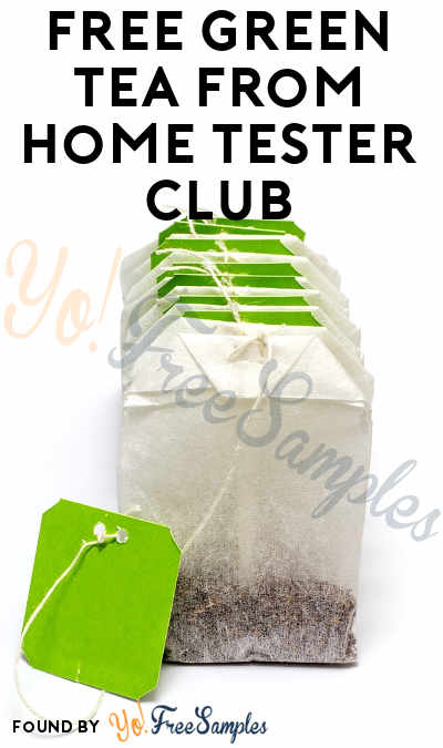 FREE Green Tea From Home Tester Club (Survey Required)