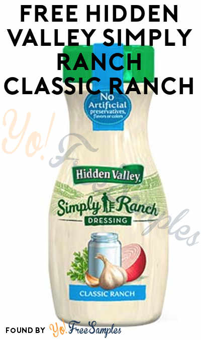 FREE Hidden Valley Simply Ranch Classic Ranch From Digitry (Survey Required)