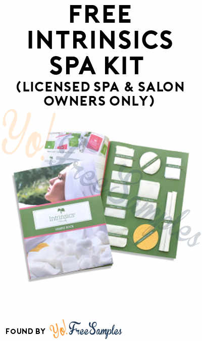 FREE Intrinsics Spa Kit (Licensed Spa & Salon Owners Only)