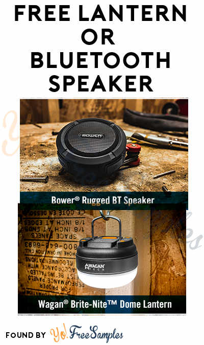 FREE Lantern or Bluetooth Speaker (21+) [Verified Received By Mail]