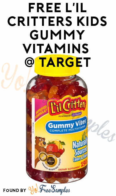 FREE L'il Critters Kids Gummy Vitamins 190-Count At Target (Coupon, Cartwheel & Rebate Required)