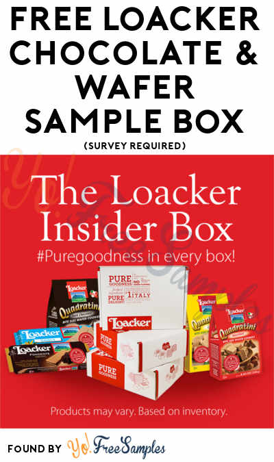 Bag Only Now: FREE Loacker Chocolate & Wafer Sample Box (Survey Required)
