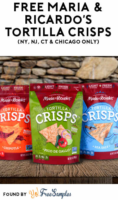 FREE Maria & Ricardo's Tortilla Crisps & More (Must Apply To Host Tryazon Party + NY, NJ, CT & Chicago Only)
