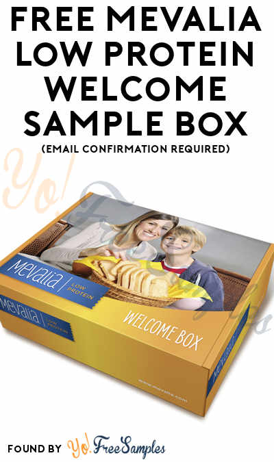 FREE Mevalia Low Protein Welcome Sample Box (Email Confirmation Required)