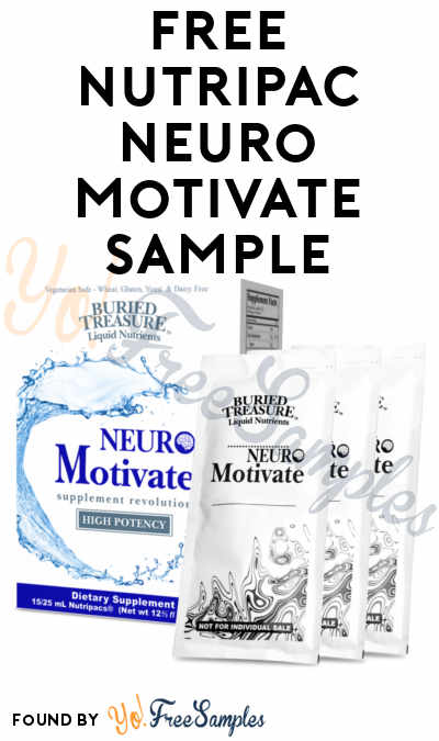 Back In Stock: FREE Nutripac Neuro Motivate Sample