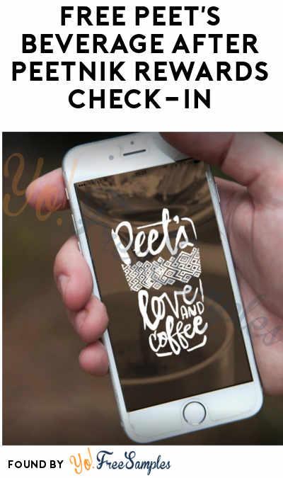FREE Peet's Beverage After Peetnik Rewards Check-In