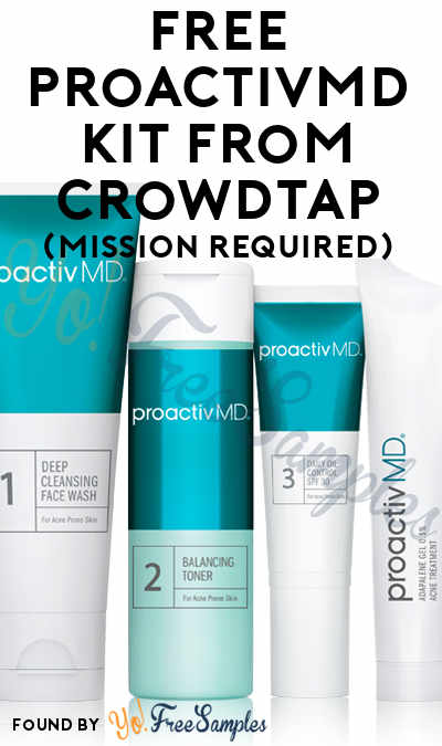 FREE ProactivMD Kit From CrowdTap (Mission Required)