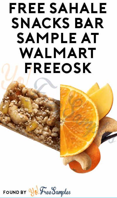FREE Sahale Snacks Bar Sample At Walmart Freeosk