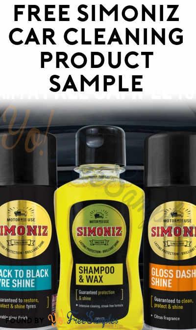 UK ONLY: FREE Simoniz Car Cleaning Product Sample