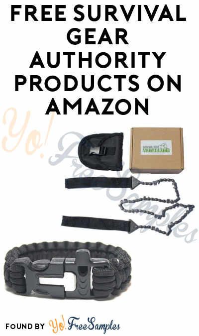 FREE Survival Gear Authority Products On Amazon (Email Confirmation Required)