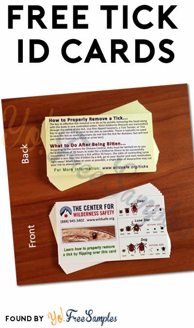 FREE Tick Identification Cards [Verified Received By Mail]