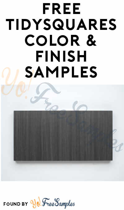 FREE TidySquares Color & Finish Samples