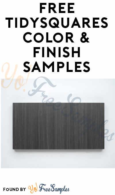 FREE TidySquares Color & Finish Samples