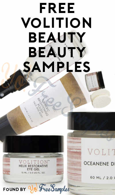 FREE Volition Beauty Product Samples