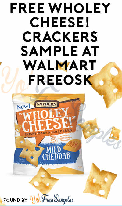 FREE Wholey Cheese! Crackers Sample At Walmart Freeosk