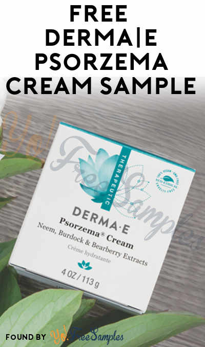 FREE DERMA E Psorzema Cream Sample