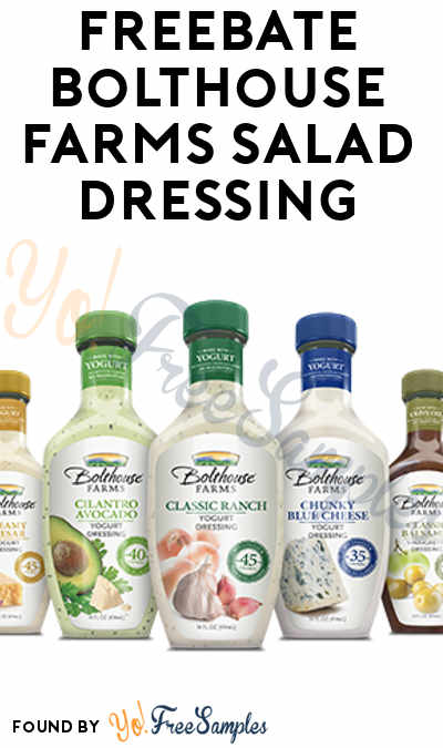 FREEBATE Bolthouse Farms Salad Dressing (MobiSave Required)
