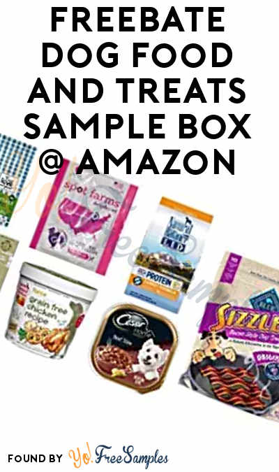 FREEBATE Dog Food and Treats Sample Box For Amazon Prime Members