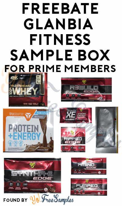 FREEBATE Glanbia Branded Fitness Sample Box For Amazon Prime Members