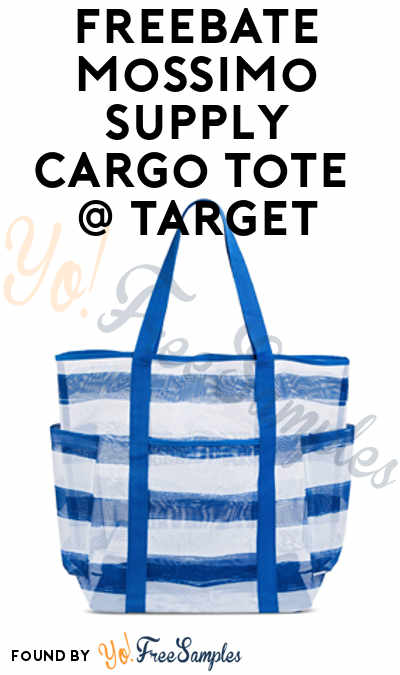 FREEBATE Mossimo Supply Co Womens Soft Mesh Cargo Tote At Target After In-Store Pick Up & Cashback (New TopCashBack Members Only)