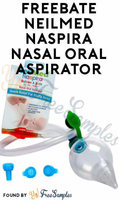 FREEBATE NeilMed Naspira Nasal Oral Aspirator (Facebook Required)