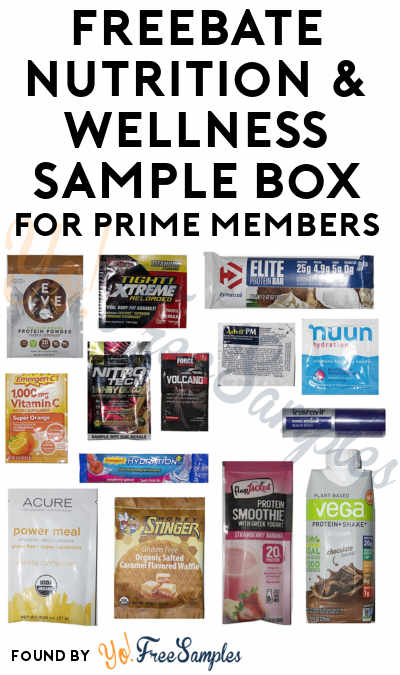 FREEBATE Nutrition & Wellness Sample Box For Amazon Prime Members