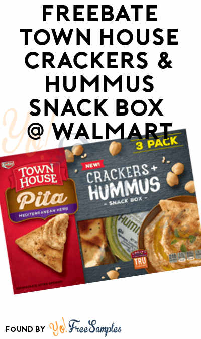 FREEBATE Town House Crackers & Hummus Snack Box At Walmart