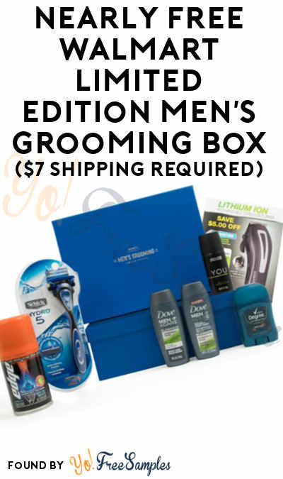 Nearly FREE Walmart Limited Edition Men's Grooming Box ($7 Shipping Required)