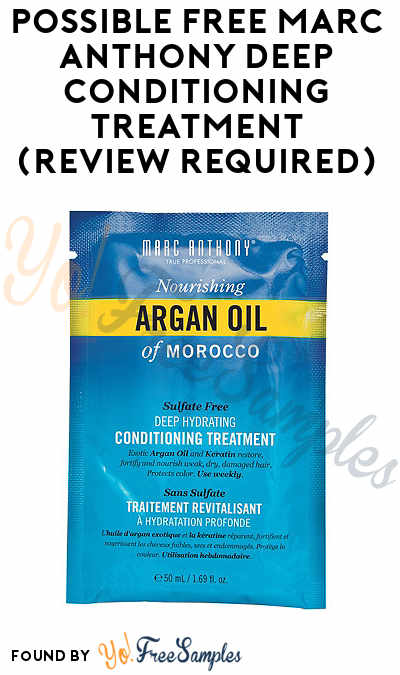 FREE Marc Anthony Deep Conditioning Treatment (Review Required)