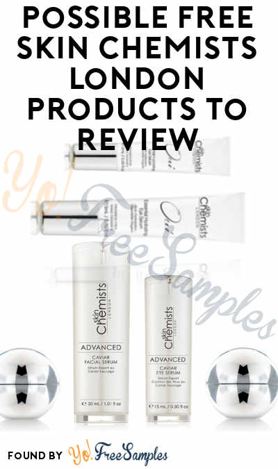 Possible FREE Skin Chemists London Products To Review