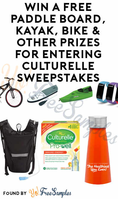 Win A FREE Paddle Board, Kayak, Bike & Other Prizes For Entering Culturelle Sweepstakes + FREE $5 OFF Culturelle Pro-Well Immune + Energy Coupon For Entering