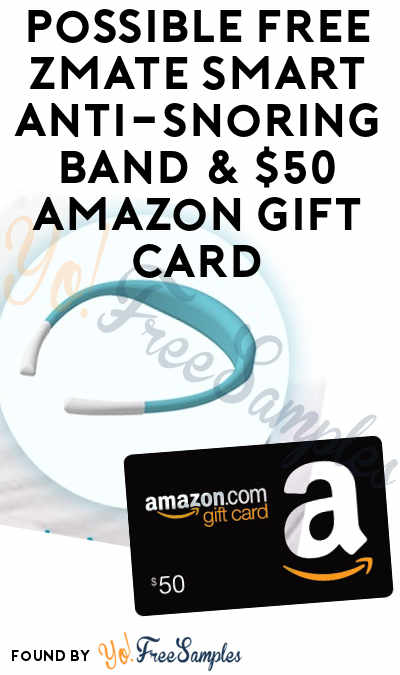 Possible FREE Zmate Smart Anti-Snoring Band & $50 Amazon Gift Card (Survey Required)