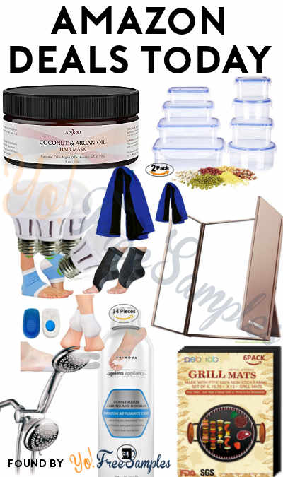 DEALS ALERT: Anjou Coconut Oil Hair Mask, 8 Deik Food Storage Containers, Tri-Fold LED Makeup Mirror, 6 Grill Mats, TriNova Coffee Machine Cleaner, 4 Sansi 40W LED Bulbs, 7 Pairs Of Plantar Fasciitis Foot Sleeve Kit & More For Amazon 7/20/2017