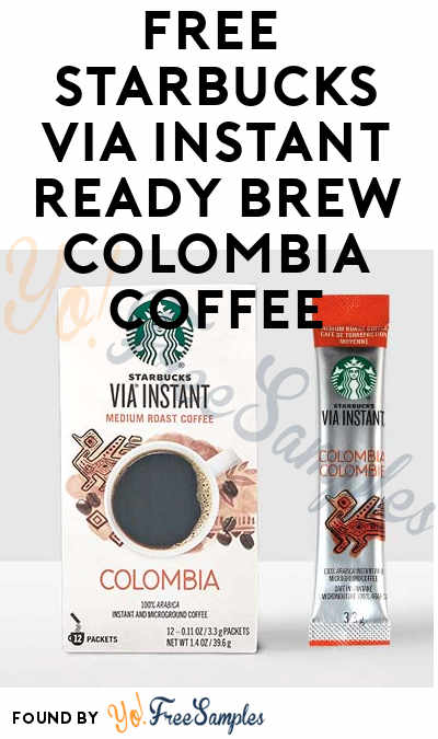 FREE Starbucks Via Instant Ready Brew Colombia Coffee From Digitry (Survey Required)
