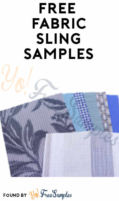 Good FREE Sling Fabric Samples From Outdoor Patio Supplies