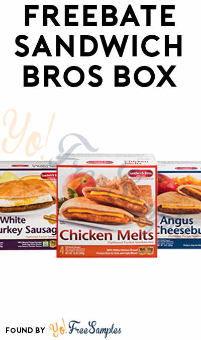 FREEBATE Sandwich Bros 4-6 Count (MobiSave Required)