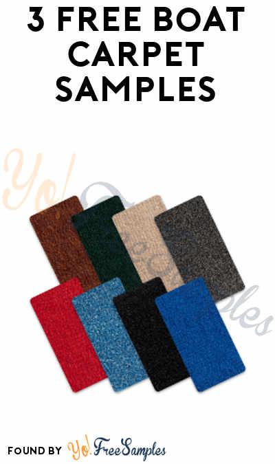 3 FREE Boat Carpet Samples