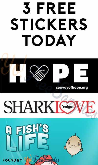 3 FREE Stickers Today: HOPE Sticker, Sharklove Sticker & PETA Kids Fish Stickers