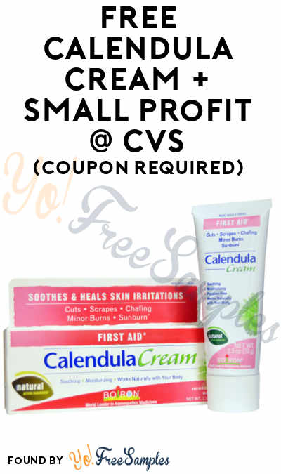 FREE Calendula First Aid or Burn Cream + Small Profit At CVS (Coupon & Ibotta Required)