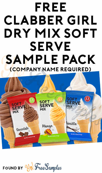 FREE Clabber Girl Dry Mix Soft Serve Sample Pack (Company Name Required)