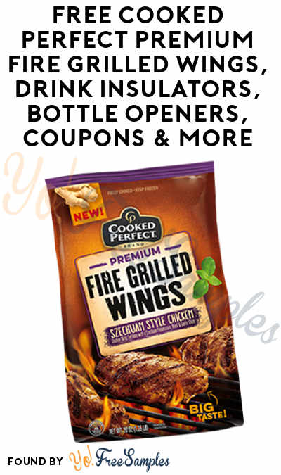 FREE Cooked Perfect Premium Fire Grilled Wings, Drink Insulators, Bottle Openers, Coupons & More (Apply To HouseParty)