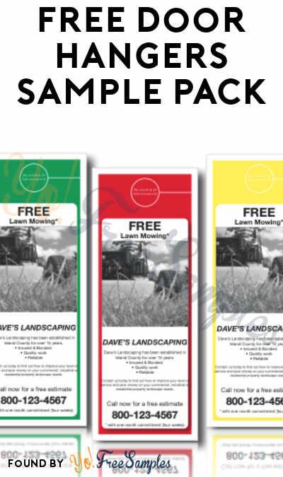 FREE Door Hangers Sample Pack