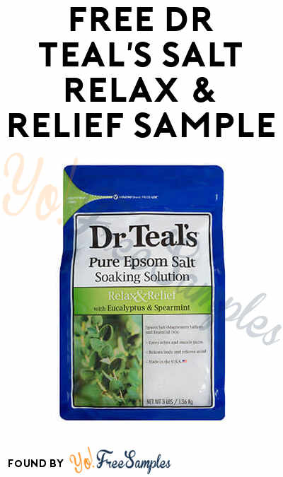 FREE Dr Teal's Pure Epsom Salt Relax & Relief With Eucalyptus & Spearmint Soaking Solution Sample To Review At Digitry (Survey Required)